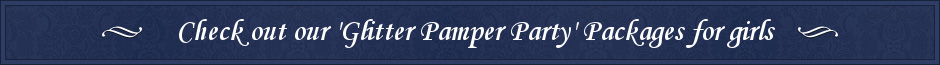 pamper party banner